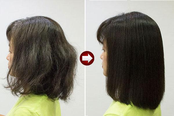 ゴアゴアのくせ毛を縮毛矯正