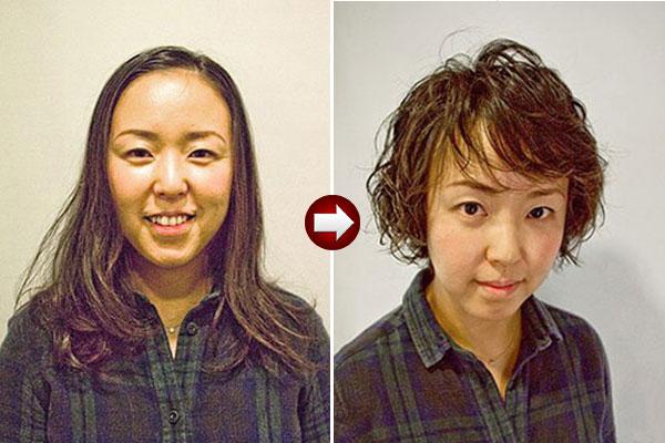 パーマでヘアスタイルをイメチェン