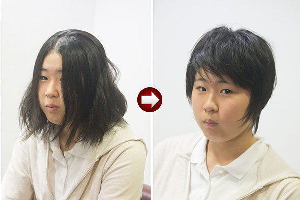 バッサリ髪を切ってヘアスタイルを変える
