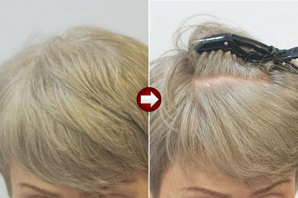 50代女性のグレイヘアの作り方例