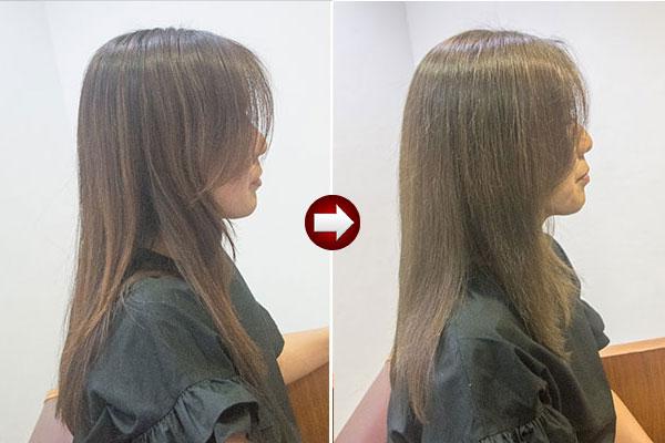 グレイヘアースタイル40代女性 画像 明るい白髪染めイエロー系