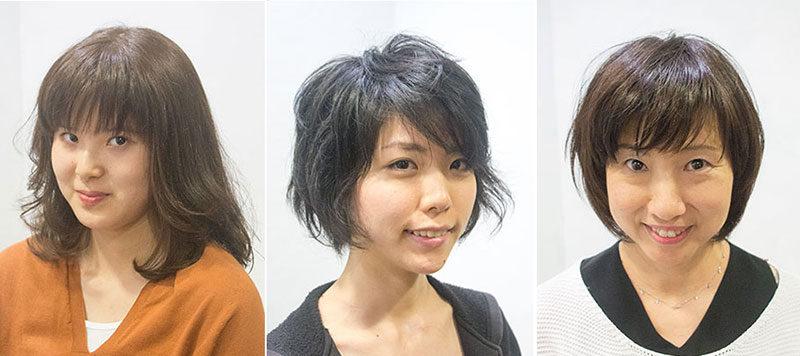 グレイヘア カラーと縮毛矯正で髪型を変える