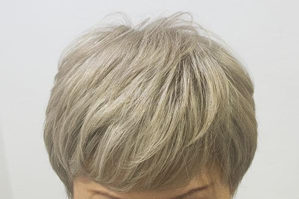 白髪9割のグレイヘア カラー