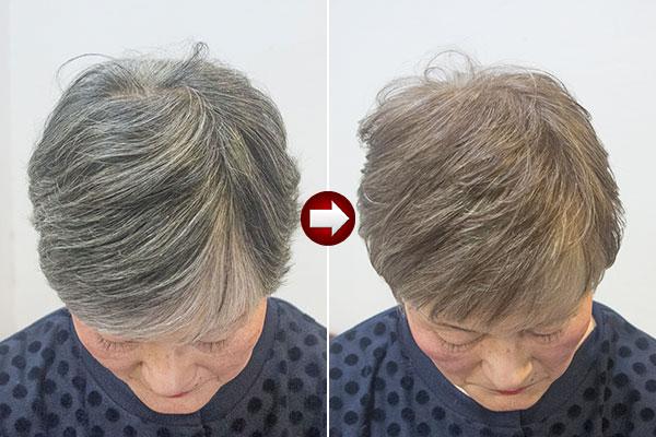 グレイヘア スタイル70代 女性画像 一度グレイヘアにした髪を染めなおす