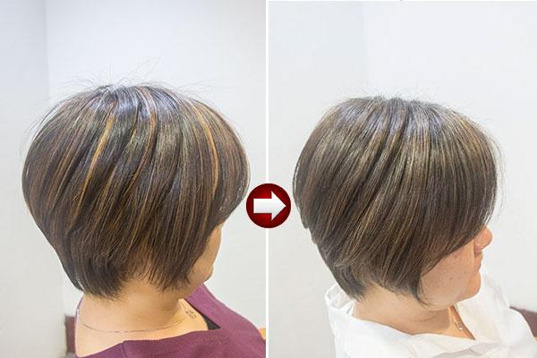 白髪のストレスを緩和するヘアカラー