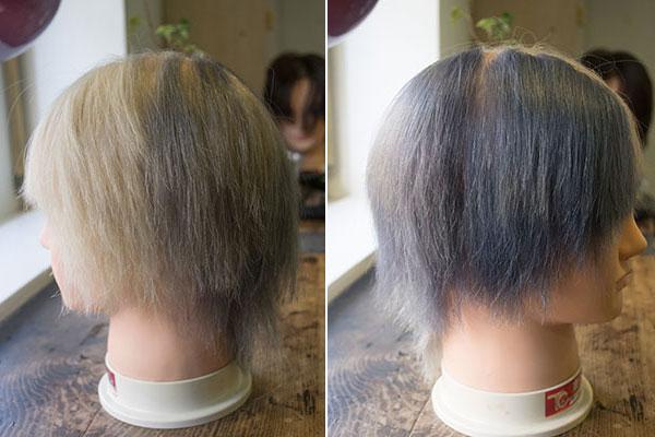 グレイヘアーをオシャレに染める実験