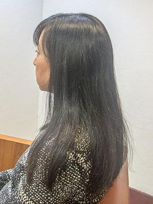 せっかく伸ばした長い髪