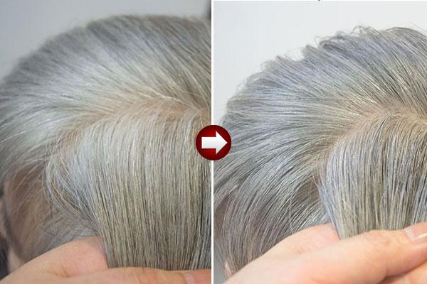 グレイヘアの作り方チャコールグレイに染めて白髪を目立たなく