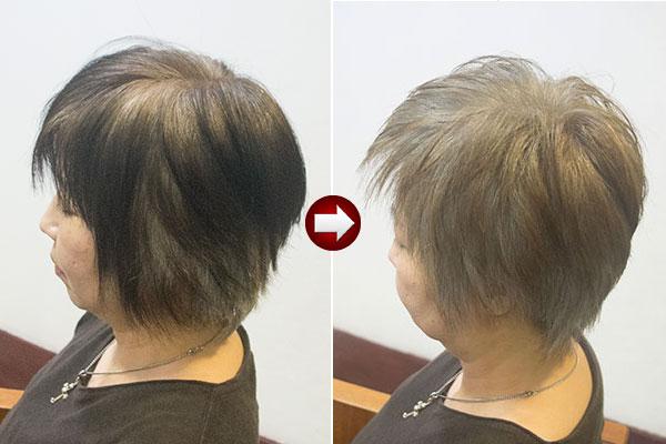 暗い白髪染めを染め直してグレイヘアを目指す