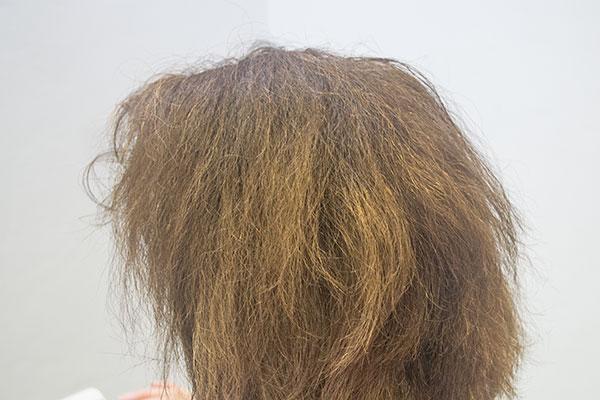 頻繁な白髪染めだ傷んだ髪