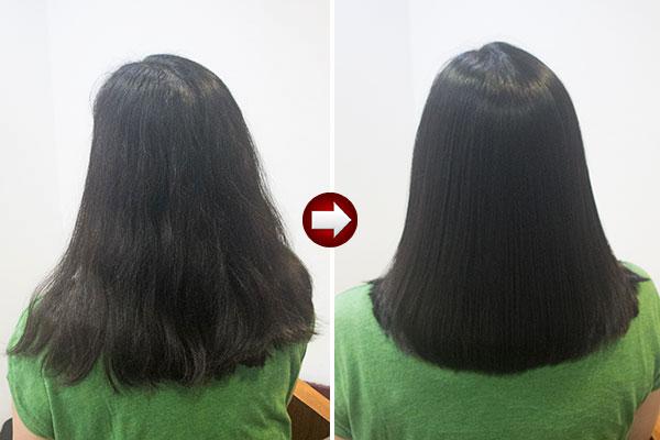 酸熱トリートメントで髪質改善ストレート
