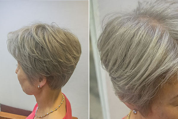 グレイヘアに移行する前の白髪染め白髪9割