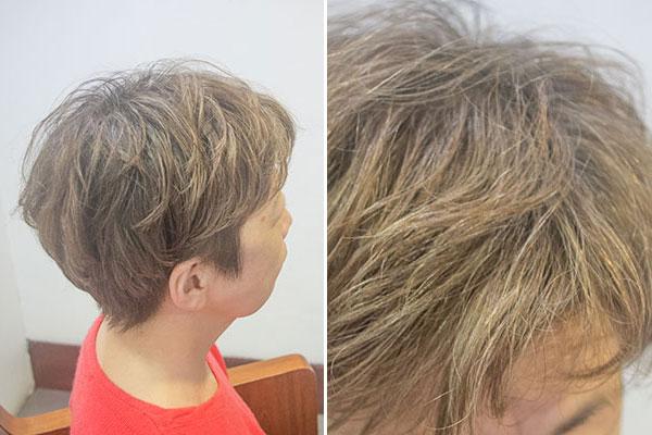 グレイヘアに移行する前の白髪染め白髪6割