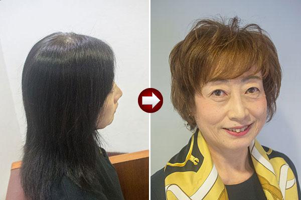 60歳髪型で美人に変身