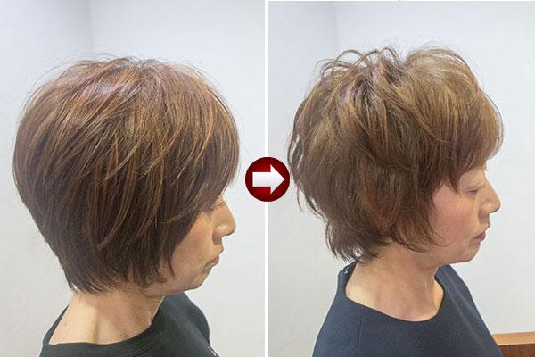 60代から髪型を変えるショートにパーマ