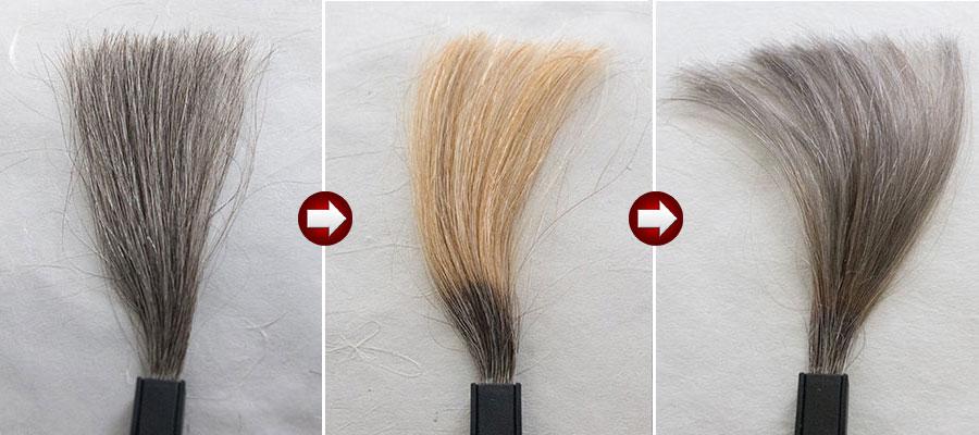 白髪50%をシルバーグレイに染める
