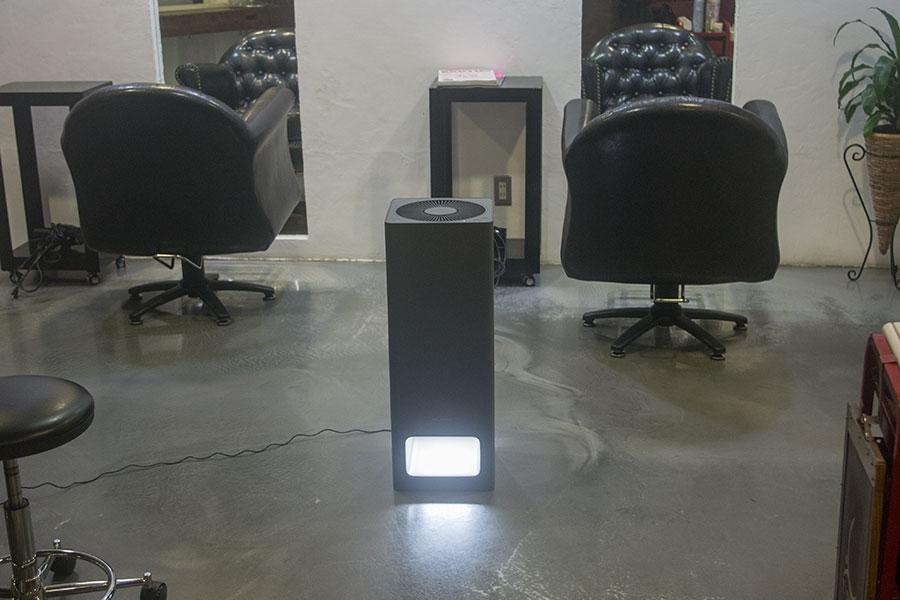 美容室とバルミューダ空気清浄機