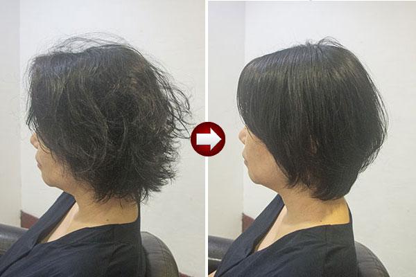 くせ毛を生かした髪型 女 ショート50代