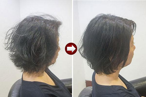 くせ毛ショート50代女性