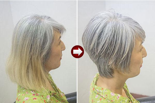 グレイヘアが似合う肌の色と髪型