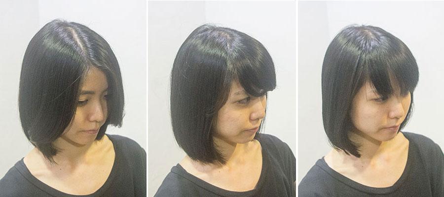 前髪で変わるイメージ