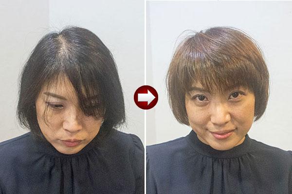 40代のグレイヘアー移行期は明るく染め直して周期を長く
