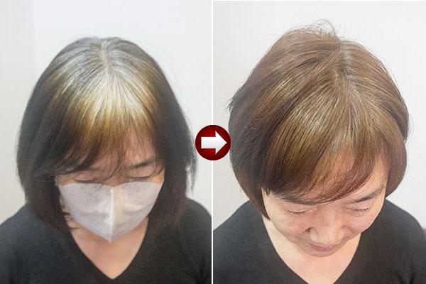 白髪染め(ヘナ)をやめてグレイヘアを目指す第一段階