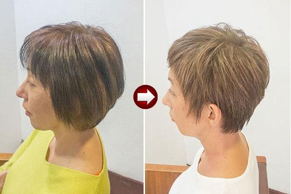 面倒な白髪染めの頻度を減らす染め方