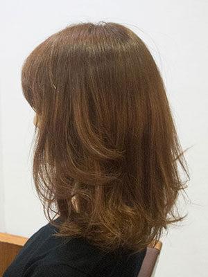 暗い白髪染めを明るくするアフター画像